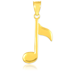 Gold Eighth Note Pendant