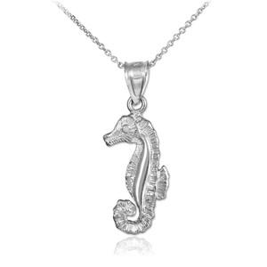 Silver Seahorse Charm Necklace