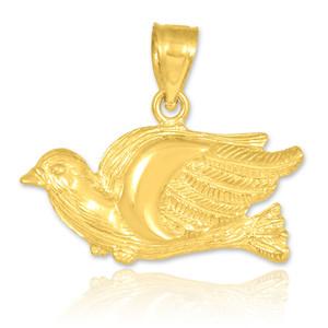 Gold Flying Dove Pendant
