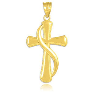 Gold Flame of the Holy Spirit Cross