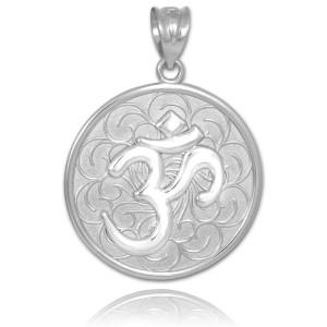 Silver Om Medallion Pendant