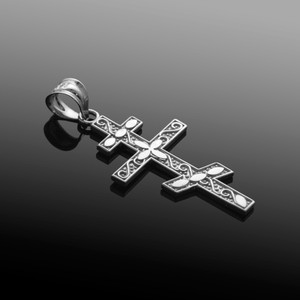 Silver Eastern Orthodox Cross Pendant