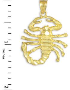 Gold Scorpio Pendant