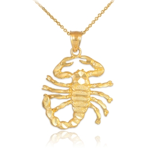 Gold Scorpion Pendant Necklace