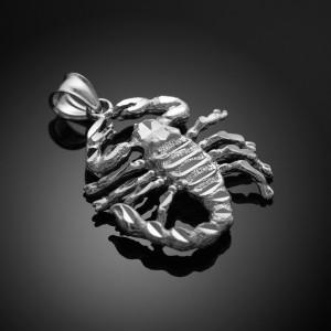 White Gold Scorpio Sign Pendant