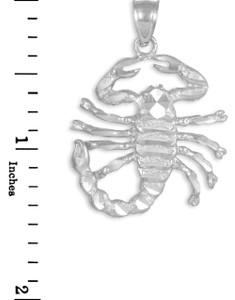 White Gold Scorpion Pendant