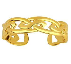 Celtic Gold Trinity Toe Ring