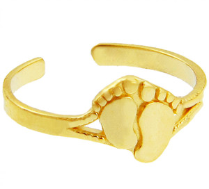 Toe Ring Gold Foot Print