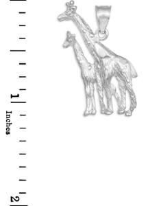 White Gold Giraffe Pendant Necklace