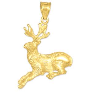 gold deer pendant