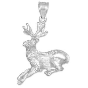 sterling silver deer charm