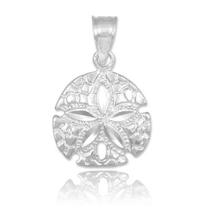 silver sand dollar charm