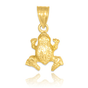 gold frog charm