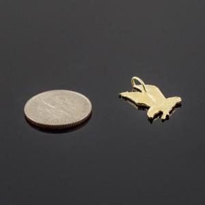 Gold Eagle Charm