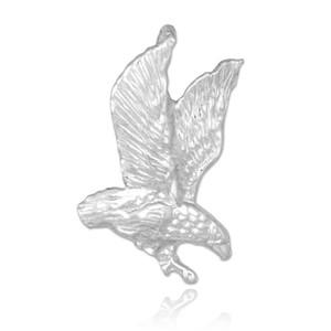 White Gold Eagle Charm