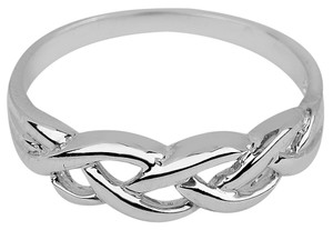 Trinity Weave Ring in Sterling Silver