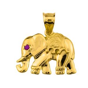 10k Gold Elephant Pendant