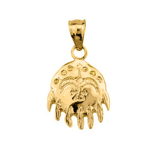 Gold Native American Indian Pendant Necklace