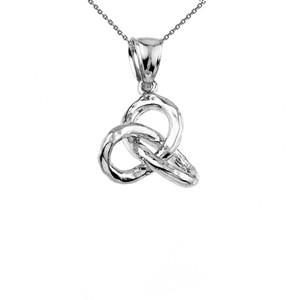 Sterling Silver Celtic Trinity Knot Pendant Necklace