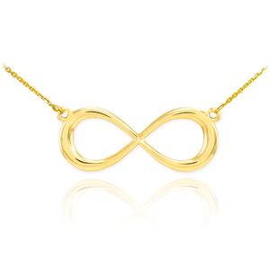 14K Gold Infinity Dainty Necklace