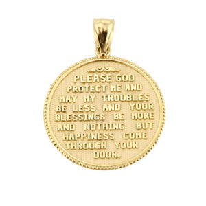 Solid Gold US Marine Corps Pendant Necklace