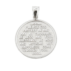 US Air Force Sterling Silver Coin Pendant Necklace