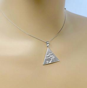 Sterling Silver Horus Charm Pendant (13 steps)