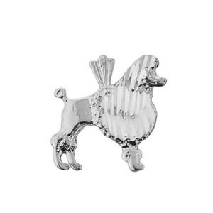 Sterling Silver Diamond Cut Poodle Charm Pendant