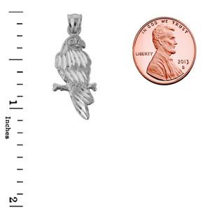 Sterling Silver Diamond Cut Parakeet Pendant