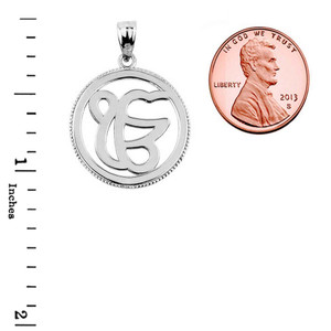 Sterling Silver Ek/Ik Onkar Charm Pendant