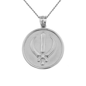 Sterling Silver Sikh Charm Pendant