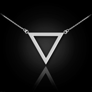 Polished Sterling Silver Triangle Necklace