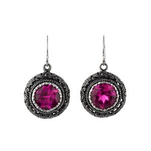 Sterling Silver Pink Sapphire Earrings