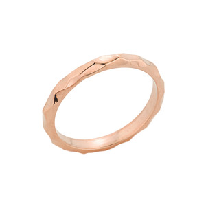 Rose Gold Textured Spike Stackable Ring