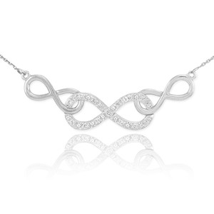 Sterling Silver Triple Infinity CZ Necklace