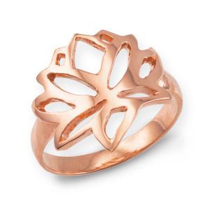 Rose Gold Lotus Flower Ring