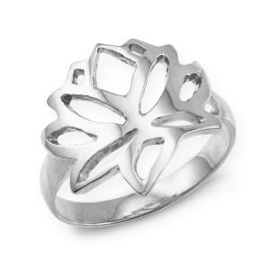Sterling Silver Lotus Flower Ring
