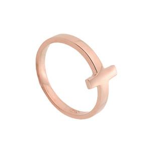 Rose Gold Sideways Cross Toe Ring
