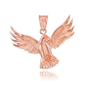 Rose Gold Falcon Pendant Necklace