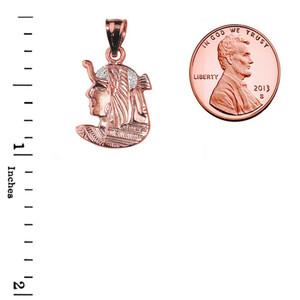 Rose Gold Diamond-Cut Queen Cleopatra Pendant