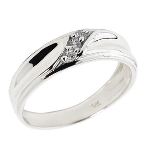 Men's Diamond Wedding Band in Sterling Silver