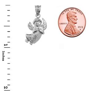 Fine Sterling Silver  Angel Charm Pendant