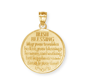 Yellow Gold Saint Patrick Pendant