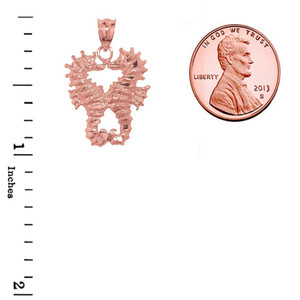 Rose Gold Seahorse Charm  Pendant