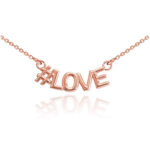 14k Rose Gold #LOVE Necklace