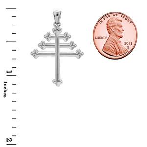 Sterling Silver Maronite Cross Pendant