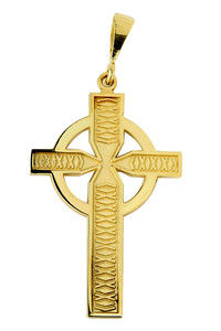 Celtic  Pendant Cross Yellow Gold
