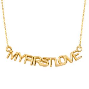 "14K Yellow Gold  ""MYFIRSTLOVE"" Pendant Necklace"