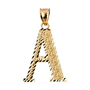 Initial A Gold Charm Pendant