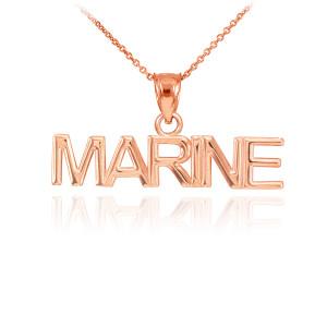Rose Gold MARINE Pendant Necklace